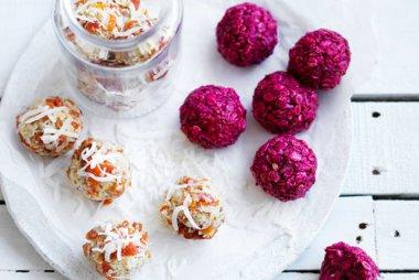 Tahini Balls and Coconut Raspberry Balls Recipes