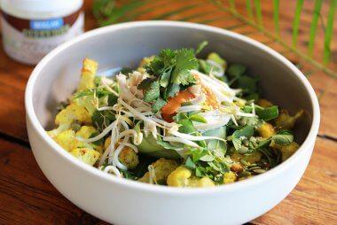 chicken satay nourish bowl