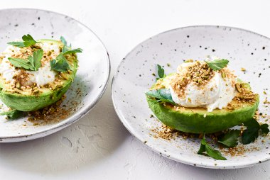Luke Hines' Loaded Avocados with Lemony Dream Cheese