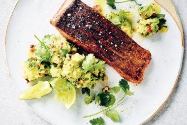 mexican-spiced crispy skin salmon